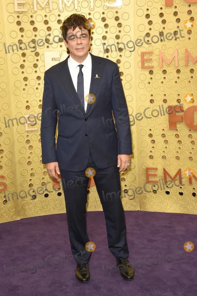 Benicio Del Toro Photo - LOS ANGELES - SEP 22  Benicio del Toro at the Primetime Emmy Awards - Arrivals at the Microsoft Theater on September 22 2019 in Los Angeles CA