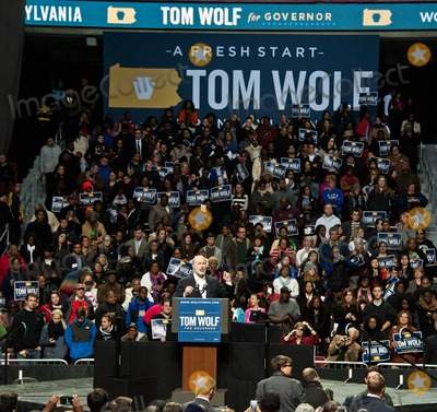 Tom Wolfe Photo - PHILADELPHIA PA USA - NOVEMBER 02 Tom Wolf Speaks at a Campaign Rally for Pennsylvania Democratic Gubernatorial Candidate Tom Wolf at The Liacouras Center at Temple University on November 02 2014 in Philadelphia Pennsylvania United States (Photo by Paul J FroggattFamousPix)