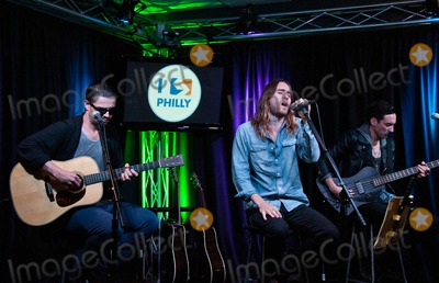 Thirty Seconds to Mars Photo - BALA CYNWYD PA - SEPTEMBER 29 (L to R) Tomo Milicevic Jared Leto and Stephen Aiello of American Alternative Rock Band Thirty Seconds To Mars Perform at Radio 1045s Performance Theatre on September 29 2013 in Bala Cynwyd Pennsylvania (Photo by Paul J FroggattFamousPix)