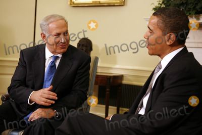 Benjamin Netanyahu Photo - Washington DC - May 18 2009 -- United States President Barack Obama meets with Prime Minister Benjamin Netanyahu of Israel in the Oval Office of the White HouseDigital Photo by Martin SimonPOOL-CNP-PHOTOlinknet