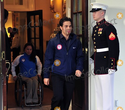 Apolo Anton Ohno Photo - Apolo Anton Ohno Olympic Short Track Speed Skater center leads Alana Nichols Paralympic Sit Skiier left out of the West Wing of the White House after their meeting with United States President Barack Obama and first lady Michele Obama in Washington DC on Wednesday April 21 2010Photo by Ron SachsPool-CNP-PHOTOlinknet