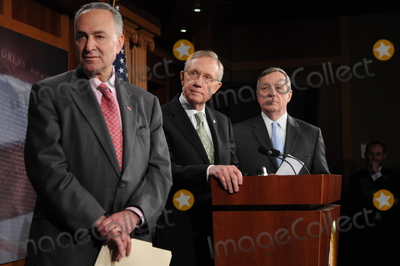Harry Reid Photo - Washington DC 4222010Capitol Hill press conference(from left) Sen Charles Schumer (D-NY) Sen Harry Reid (D-NV) and Sen Dick Durbin (D-IL)  held a press conference on Wall Street accountability at the US Capitol Digital photo by Elisa Miller-PHOTOlinknet