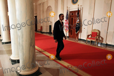 Mark Wilson Photo - United States President Barack Obama walks away after making a statement about the decision of President Hosni Mubarak of Egypt not to seek another term as Egyptian President at the White House on Thursday February 1 2011 in Washington DC Earlier today the embattled Mubarak announced that he would not seek reelection after one million people rallied across Egypt calling for Mubarak to give up power Photo by Mark Wilson PoolCNP-PHOTOlinknet
