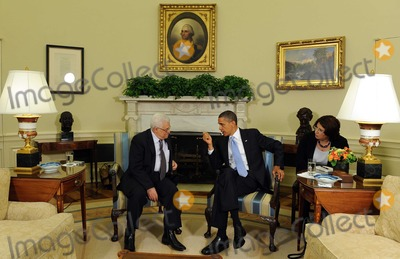 ABBA Photo - United States President Barack Obama speaks to the media after meeting with President Mahmoud Abbas of the Palestinian Authority in the Oval Office of the White House in Washington on Wednesday June 9 2010Photo by Roger WallenbergPooL-CNP-PHOTOlinknet
