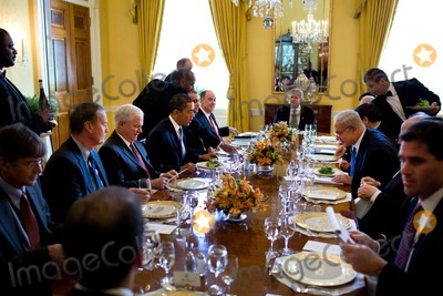 Benjamin Netanyahu Photo - Washington DC - May 18 2009 -- United States President Barack Obama and Prime Minister Benjamin Netanyahu of Israel at their working lunch in  the Old Family Dining Room of the White House MANDATORY CREDIT Pete SouzaWhite House-CNP-PHOTOlinknet