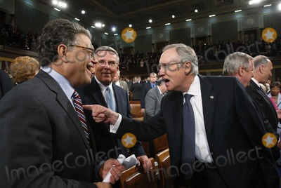 Harry Reid Photo - Washington DC 9-9-2009US Senator Al Franken (D-MN) (L) jokes with US Senate Majority Leader Harry Reid (R) on the floor US President Barack Obama speaks about health care reform before a joint session of the US Congress on Capitol Hille a joint session of the US Congress on Capitol Hill Photo by Jason ReedPOOL-CNP-PHOTOlinknet