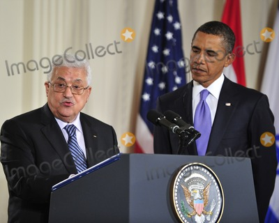 ABBA Photo - Peace Talks8256JPGRESTRICTED NEW YORKNEW JERSEY OUTNO NEW YORK OR NEW JERSEY NEWSPAPERS WITHIN A 75 MILE RADIUS OF NYCPresident Mahmoud Abbas of the Palestinian Authority makes remarks as United States President Barack Obama looks on in the East Room of the White House following a series bi-lateral meetings in Washington DC on Wednesday September 1 2010  The statements are in advance of the opening of the first direct talks in two years between Israel and the Palestinian Authority scheduled to begin at the State Department in Washington DC tomorrow  Photo by Ron SachsPoolCNP-PHOTOlinknet