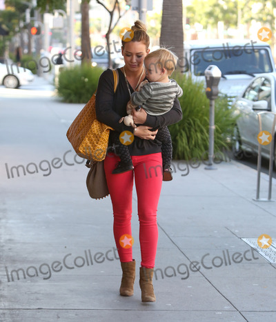 Photos From Hilary Duff and son Luca sighting in Los Angeles