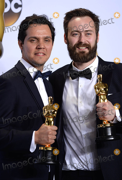Benjamin Cleary Photo - Photo by PDstarmaxinccomSTAR MAXCopyright 2016ALL RIGHTS RESERVEDTelephoneFax (212) 995-119622816Benjamin Cleary and Shan Christopher Ogilvie with the award for Best Live Action Short Film at the 88th Annual Academy Awards (Oscars)(Hollywood CA USA)