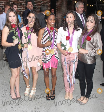 Aly Raisman Photo - Photo by KGC-146starmaxinccom 2012ALL RIGHTS RESERVEDTelephoneFax (212) 995-119681412The United States Womens Olympic Gymnastic Team - McKayla Maroney Alexandra (Aly) Raisman Gabby Douglas Kyla Ross and Jordyn Wieber - arrive at The Late Show(NYC)US Syndication Only