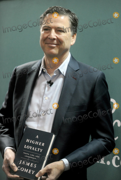 Hillary Clinton Photo - Photo by Dennis Van TinestarmaxinccomSTAR MAX2018ALL RIGHTS RESERVEDTelephoneFax (212) 995-119641818Former FBI Director James Comey begins book tour in support of new memoir A Higher Loyalty Truth Lies and Leadership published by Flatiron Books yesterday The book details his experiences from a two-decade career in the US Govt and includes discussions of the 2016 Hillary Clinton email scandal and Comeys investigation into purported links between the Trump election campaign and Russia  The memoirs publication was brought forward from May to April as the publisher noted the intense scrutiny the FBI is currently facing and how there was a demand for Comey to be heard Comey was fired as FBI director by President Donald Trump last May(Barnes and Noble NYC)