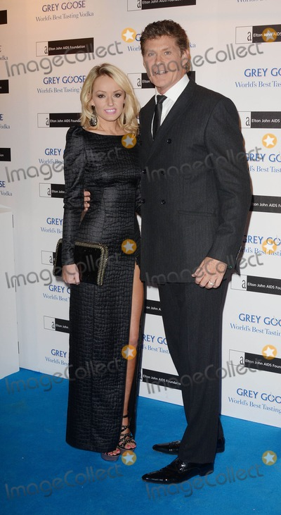 Hayley Roberts Photo - 10th November 2012  The Elton John AIDS Foundation Grey Goose Winter Ball held at Battersea Power Station London this eveningAmong those attending Hayley Roberts and David HasslehoffKGC-162starmaxinccom