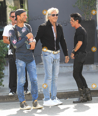 Mickey Rourke Photo - Photo by SMXRFstarmaxinccomSTAR MAX2017ALL RIGHTS RESERVEDTelephoneFax (212) 995-119691917Mickey Rourke with friends leave a salon in Beverly Hills CA