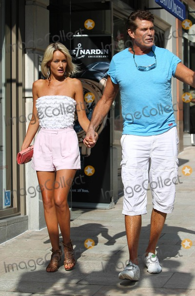 Hayley Roberts Photo - Photo by VPFPCstarmaxinccom2012ALL RIGHTS RESERVEDTelephoneFax (212) 995-11966412Hayley Roberts and David Hasselhoff out and about shopping on Rodeo Drive(Beverly Hills CA)