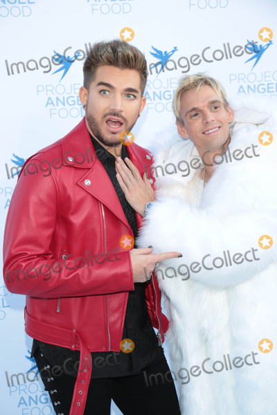 Adam Lambert Photo - Photo by gotpapstarmaxinccomSTAR MAX2017ALL RIGHTS RESERVEDTelephoneFax (212) 995-119681917Adam Lambert and Aaron Carter at Project Angel Foods 2017 Angel Awards in Los Angeles CA