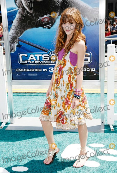 Bella Thorne Photo - Bella Thorne walks the green carpet for the Los Angeles premiere of Warner Bros Cats  Dogs The Revenge of Kitty Galore held at Graumans Chinese Theatre  The family action comedy which is the sequel to the 2001 film Cats  Dogs has been released as a 3-D and features the voices of Christina Applegate Bette Midler Neil Patrick Harris and Nick Nolte among others Los Angeles CA 072510