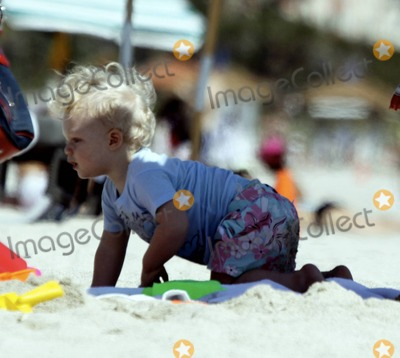 Adored Photo - EXCLUSIVE  Sharlely Becker spends a fun-filled morning at the beach with her adorable one year old son Amadeus Miami Beach FL 3811Fees must be agreed prior to publication