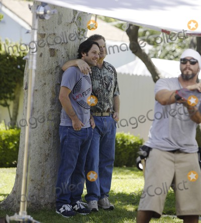 Albert Brooks Photo - Paul Rudd and co-star Albert Brooks on the set of Knocked Up spin off This Is 40 Los Angeles CA 71911
