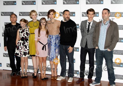 Alex Garland Photo - Kazuo Ishiguro Ella Purnell Carey Mulligan Isobel Meikle-Small Keira Knightley Mark Romanek Andrew Garfield and Alex Garland at the photocall for Never Let Me Go at the BFI London Film Festival London UK 101310