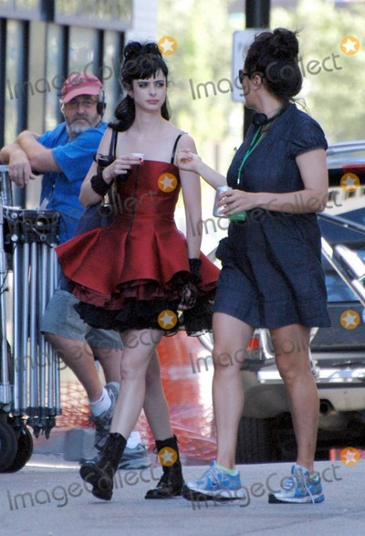 Amy Heckerling Photo - EXCLUSIVE Krysten Ritter chats with director Amy Heckerling on the set of the new movie Vamps in Detroit MI 81610Fees must be agreed prior to publication