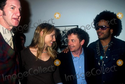 Lenny Kravitz Photo -  122001 the Lenny Kravitzmark Seliger Photo Exhibit and Book Signing NYC Mark Seliger Tracy Pollan Michael J Fox and Lenny Kravitz Photo by Henry McgeeGlobe Photos Inc