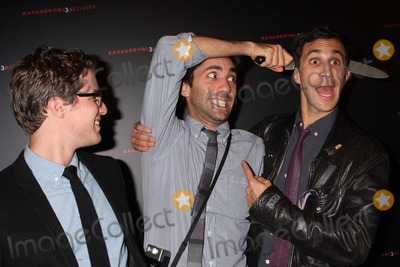 Henry Joost Photo - Directors Henry Joost and Ariel Schulman with Yaniv Schulman Arriving at a Super Fan Screening of Paranormal Activity 3 at Regal Union Square Stadium 14 in New York City on 10-18-2011 Photo by Henry Mcgee-Globe Photos Inc 2011