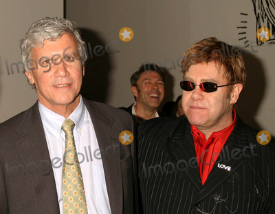 Elton John Photo - Larry Gagosian and Elton John at the Opening Reception of Andy Warhol Late Paintings and Helmut Newton Photographs at Gagosian Gallery Beverly Hills California 02262004 Photo by Henry McgeeGlobe Photos Inc