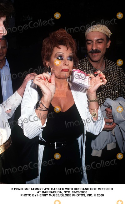 Tammy Faye Baker Photo -  Tammy Faye Bakker with Husband Roe Messner at Barracuda NYC 07202000 Photo by Henry McgeeGlobe Photos Inc