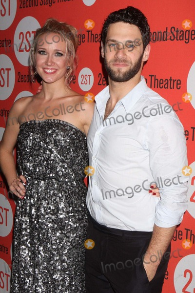Anna Camp Photo - Anna Camp and Justin Bartha Arriving at the Opening Night Party For Second Stage Theatres Production of All New People at Hb Burgers in New York City on 07-25-2011 Photo by Henry Mcgee-Globe Photos Inc 2011