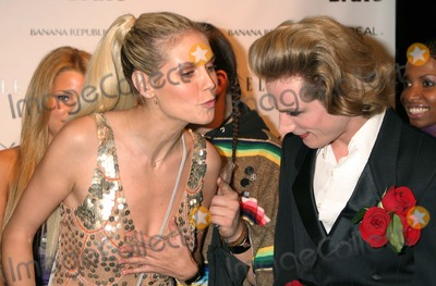 Austin Scarlett Photo - New York NY  11-30-2004Heidi Klum and Austin Scarlett (Project Runway contestant) attend the party celebrating the launch of the new Bravo series Project Runway at PM LoungeDigital Photo by Lane Ericcson-PHOTOlinkorg