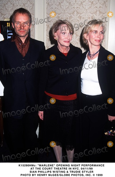 Sian Phillips Photo - 041199 Marlene Opening Night Performance at the Court Theatre in NYC Sian Phillips Wsting  Trudie Styler Photo by Henry McgeeGlobe Photos Inc