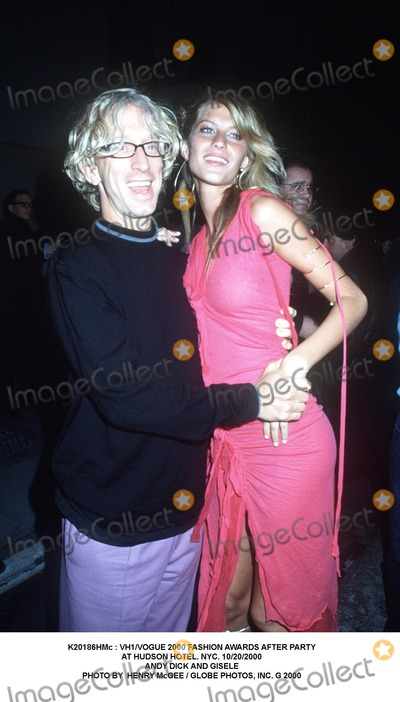 Giselle Photo -  Vh1vogue 2000 Fashion Awards After Party at Hudson Hotel NYC 10202000 Andy Dick and Gisele Photo by Henry Mcgee  Globe Photos Inc G