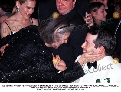 Anne Bancroft Photo -  41901the Producers Opening Night at the St James Theatreafter-party at Roseland Ballroom NYC Sarah Jessica Parker Ann Bancroft  Matthew Broderick Photo by Henry McgeeGlobe Photos Inc