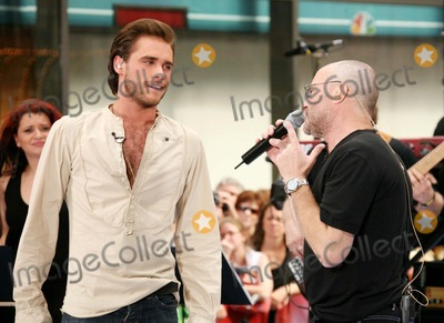 Phil Collins Photo - Josh Strickland Star of the Broadway Musical Tarzan and Phil Collins Performing on Nbcs Today Show Toyota Concert Series at Rockefeller Plaza in New York City on 06-23-2006 Photo by Henry McgeeGlobe Photos Inc 2006