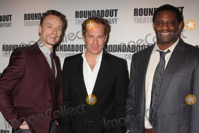 Adam James Photo - Ben Daniels Adam James and David Aron Damane Attend a Press Junket with the Stars of Roundabout Theatre Companys dont Dress For Dinner at the American Airlines Theatre in New York City on March 15 2012 Photo by Henry Mcgee-Globe Photos Inc 2012