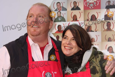 Annabella Sciorra Photo - New York NY 11-28-2008Mario Batali and Annabella Sciorralaunch of  Starbucks and (RED) partnership at Times Squares Military Island (RED) is designed to help eliminate AIDS in AfricaDigital photo by Lane Ericcson-PHOTOlinknet