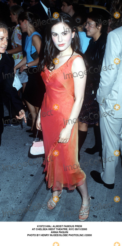 Anna Paquin Photo -  Almost Famous Prem at Chelsea West Theatre NYC 09112000 Anna Paquin Photo by Henry McgeeGlobe Photosinc