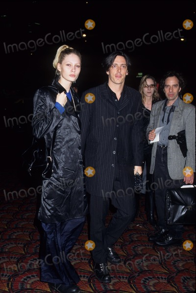 Andy Warhol Photo - Kirsty Hume with Donovan Leitch I Shot Andy Warhol Premiere at Sony Lincoln Square Theatre in New York 1996 K4818hmc Photo by Henry Mcgee-Globe Photos Inc