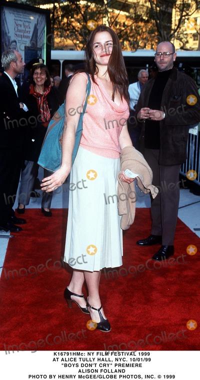Alison Folland Photo -  NY Film Festival 1999 at Alice Tully Hall NYC 10011999 Boys Dont Cry Prem Alison Folland Photo by Henry McgeeGlobe Photos