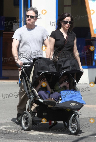 Maggie Rose Photo - NYC  041809EXCLUSIVE Jon Stewart wife Tracey son Nathan Thomas Stewart (4 12 years old)and daughter Maggie Rose Stewart (3 years old) both playing with I-Phones shopping in the West VillageDigital Photo by Adam Nemser-PHOTOlinknet