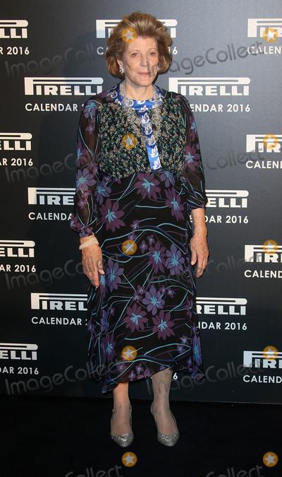 Annie Leibovitz Photo - November 30 2015 - Agnes Gund attending Gala Evening To Celebrate The Pirelli Calendar 2016 By Annie Leibovitz at The Roundhouse in Camden London UK