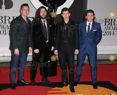 Arctic Monkeys Photo - Feb 19 2014 - London England UK - Brit Awards 2014 O2 Arena LondonPictured The Arctic Monkeys