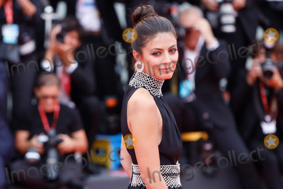 Alessandra Mastronardi Photo - VENICE ITALY - SEPTEMBER 07 Festival Hostess Alessandra Mastronardi walks the red carpet ahead of the closing ceremony of the 76th Venice Film Festival at Sala Grande on September 07 2019 in Venice Italy (Photo by Laurent KoffelImageCollectcom)