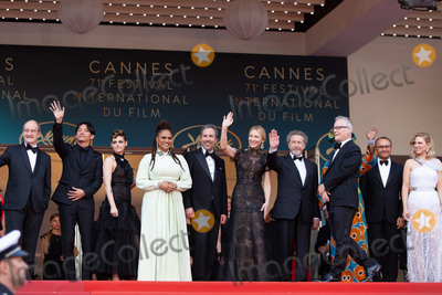 Thierry Fremaux Photo - CANNES FRANCE - MAY 8 Chang Chen Kristen Stewart Ava DuVernay Denis Villeneuve Cate Blanchett Robert Guediguian Khadja Nin Andrey Zvyagintsev Lea Seydoux Thierry Fremaux attend the screening of Everybody Knows (Todos Lo Saben) and the opening gala during the 71st annual Cannes Film Festival at Palais des Festivals on May 8 2018 in Cannes France(Photo by Laurent KoffelImageCollectcom)