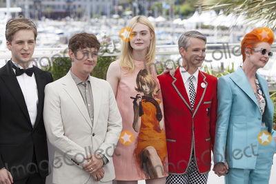Alex Sharp Photo - CANNES FRANCE - MAY 21 Aj Lewis Alex Sharp Elle Fanning John Cameron Mitchell and Sandy Powell attend the How To Talk To Girls At Parties photocall during the 70th annual Cannes Film Festival on May 21 2017 in Cannes France (Photo by Laurent KoffelImageCollectcom)