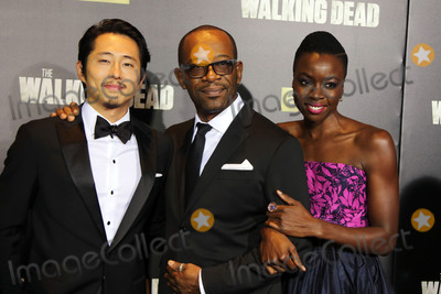 Lenny James Photo - October 9 2015 New York CitySteven Yeun Lennie James and  Danai Gurira arriving at the season six premiere of The Walking Dead at Madison Square Garden on October 9 2015 in New York CityBy Line Philip VaughanACE PicturesACE Pictures Inctel 646 769 0430