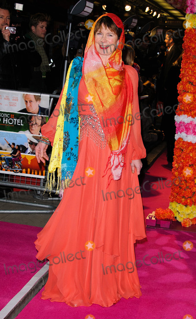 Celia Imrie Photo - Celia Imrie at the World premiere of The Best Exotic Marigold Hotel held at the Curzon Mayfair on Fenruary 7 2012 in London