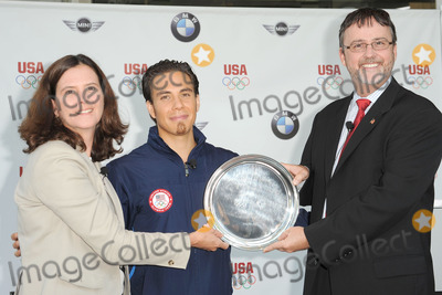 JACK PITNEY Photo - Short Track Speedskater Apolo Anton Ohno attends the announcement of a new multi-year partnership between BMW Group  the United States Olympic Committee at BMW of Manhattan on July 26 2010 in New York City
