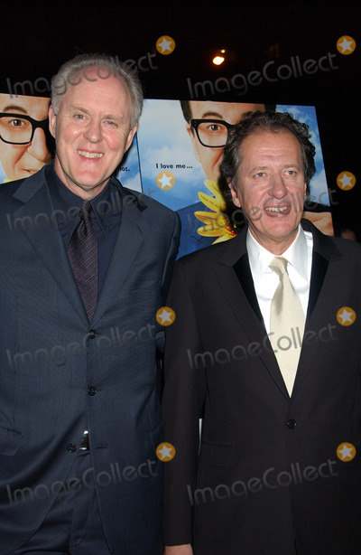 Geoffrey Rush Photo - NEW YORK NOVEMBER 19 2004    John Lithgow and Geoffrey Rush at the premiere of The Life and Death of Peter Sellers