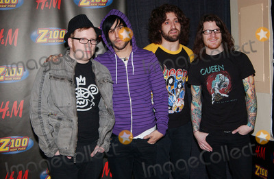 Andy Hurley Photo - Musicians Patrick Stump Pete Wentz Joe Trohman and Andy Hurley of Fall Out Boy in the press room of the 2007 Z100 Jingle Ball at Madison Square Garden